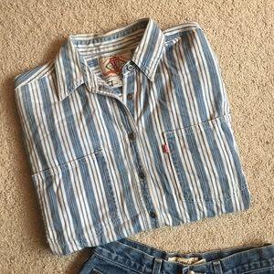 Levi button down denim shirt